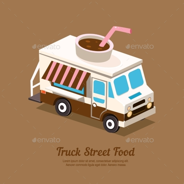 Truck Coffee  - Food Objects