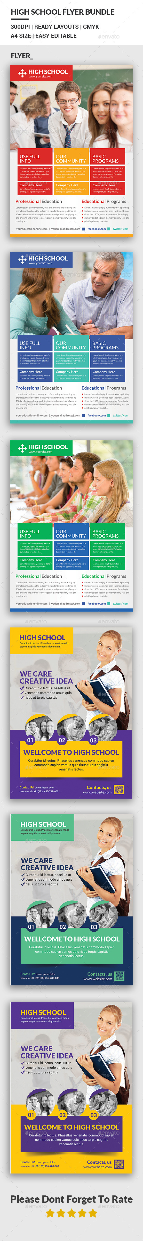 High School Flyer Bundle - Corporate Flyers