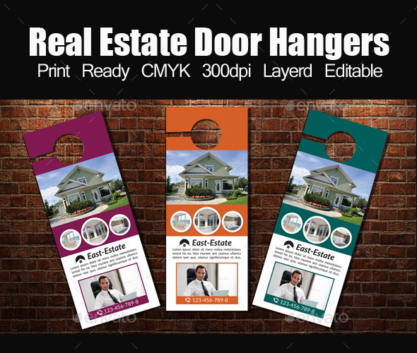 Real Estate Door Hanger Template By Designhub GraphicRiver - Real estate door hanger templates