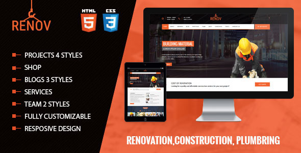 Renov – Construction Renovation Template