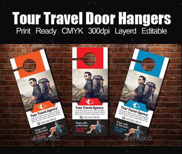 Tour Travel Door Hanger Template - Miscellaneous Events
