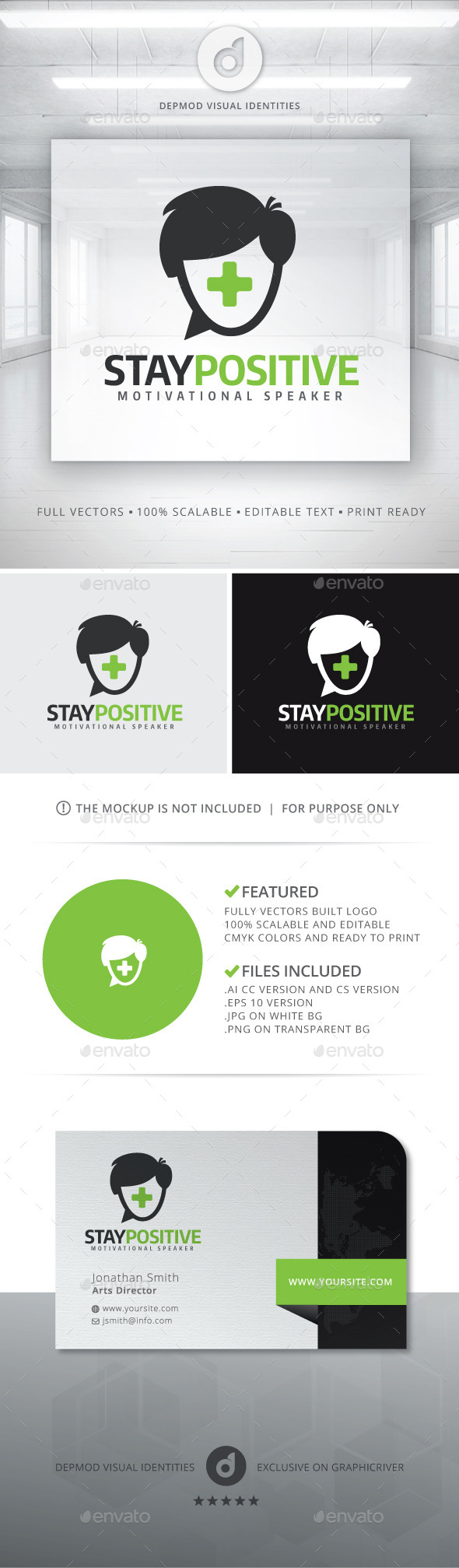 Stay Positive Logo - Humans Logo Templates