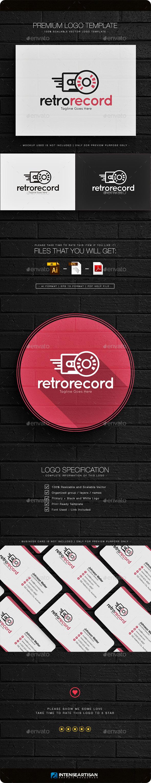 Retro Record Logo