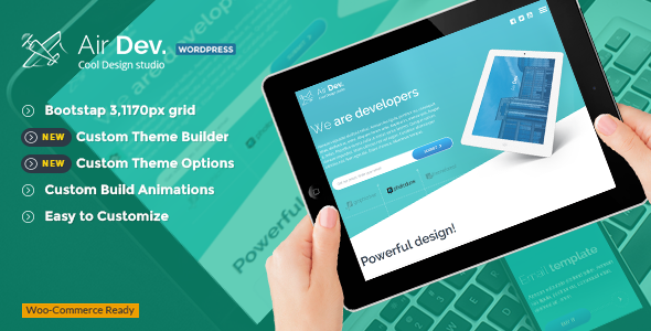 AirDev - Responsive WordPress Theme - Creative WordPress