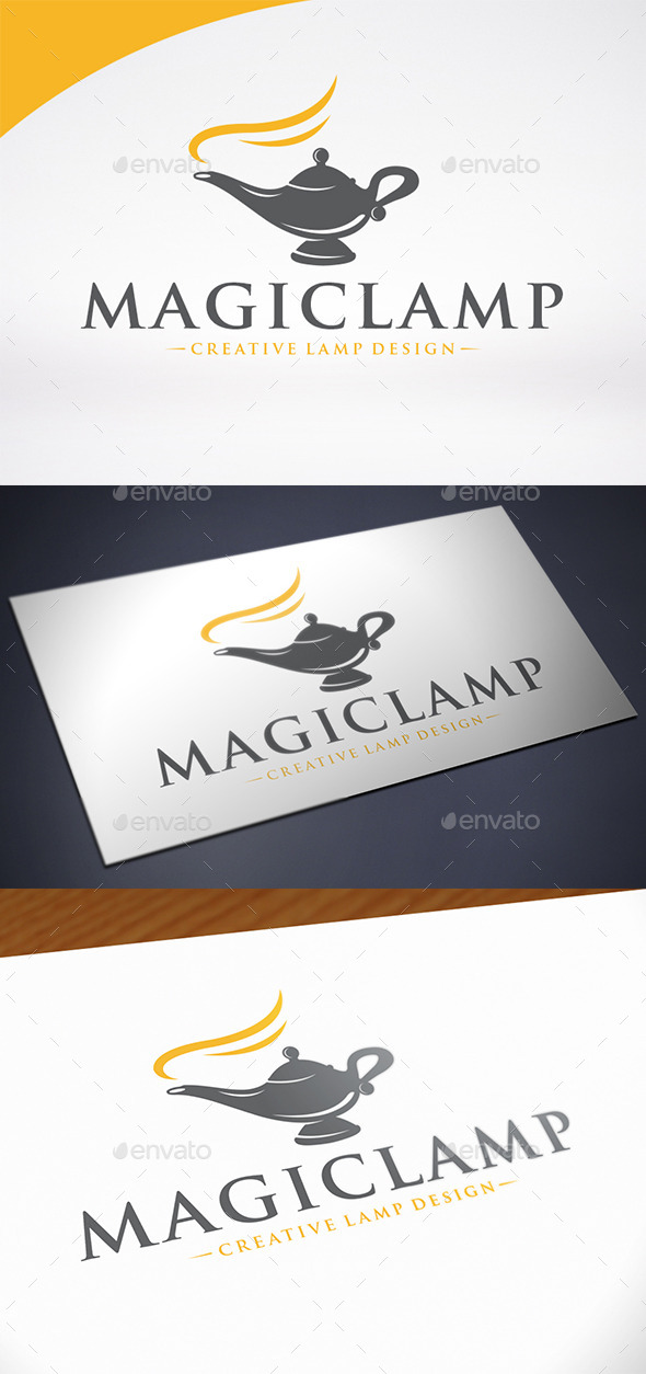 Magic Lamp Logo Template - Objects Logo Templates