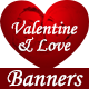 Valentine and Love Banner Set - GraphicRiver Item for Sale