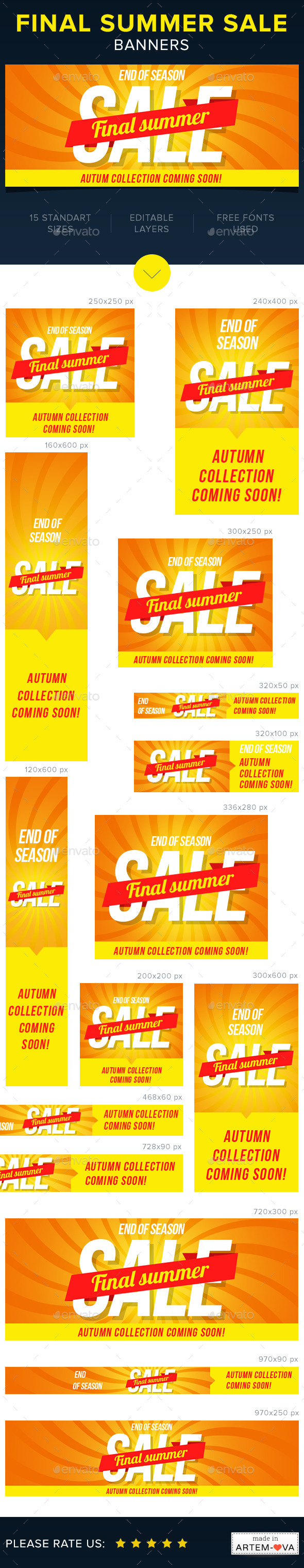 Final Summer Sale Banners - Banners & Ads Web Elements