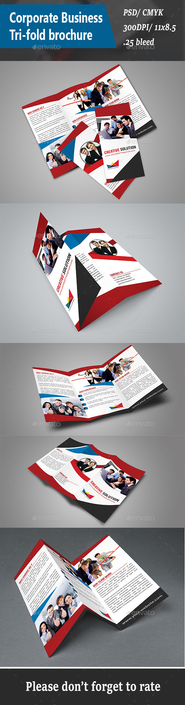 Corporate Business Tri-fold Brochure - Brochures Print