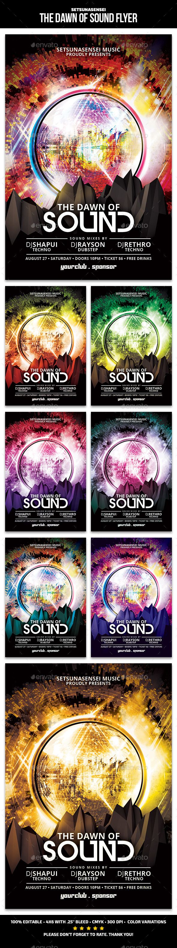Dawn of Sound Flyer - Clubs & Parties Events