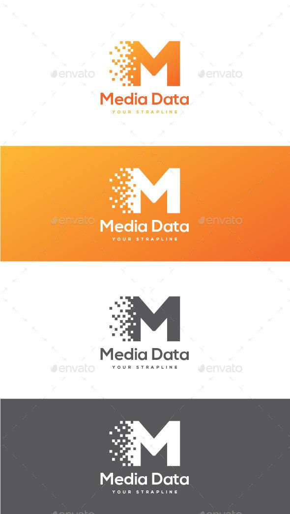 Media Data Letter M Logo - Letters Logo Templates