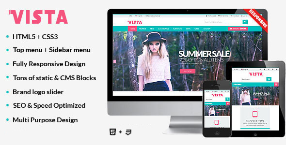 Vista – Responsive Multipurpose HTML5 Template