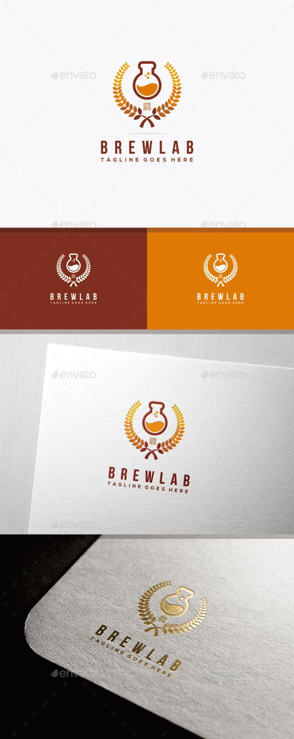 BrewLab Logo Template