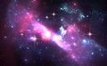 Space background with purple nebula and stars - PhotoDune Item for Sale