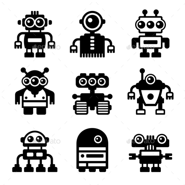Robot Icon Set - Technology Icons
