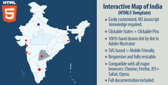 Interactive map of india by art101 codecanyon interactive map of india gumiabroncs Image collections