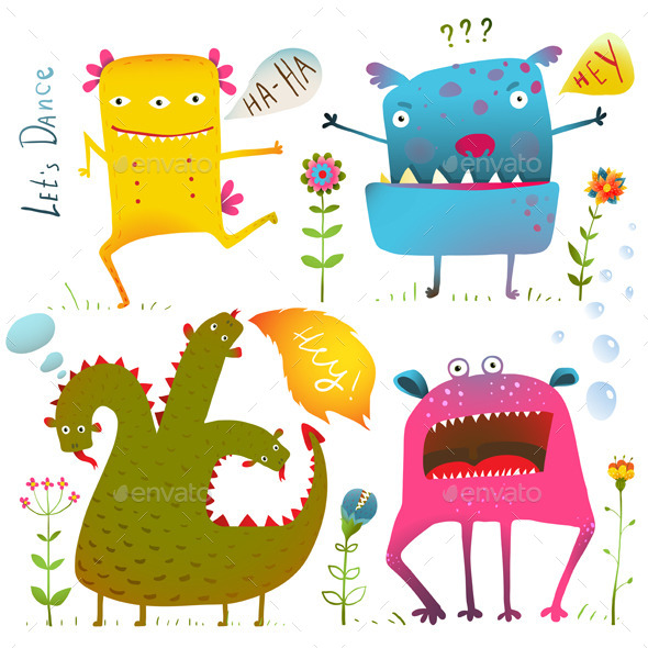 Monsters for Children Design