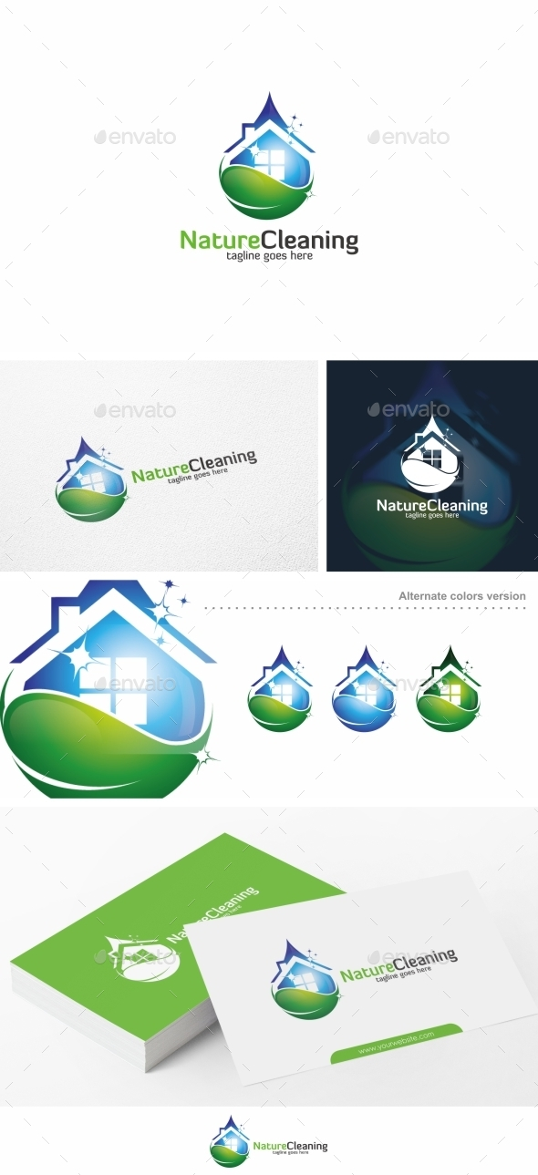 Nature Cleaning Logo Template