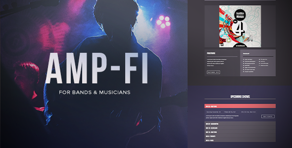 Music Band Muse Template for Musicians & Bands: Amp-Fi