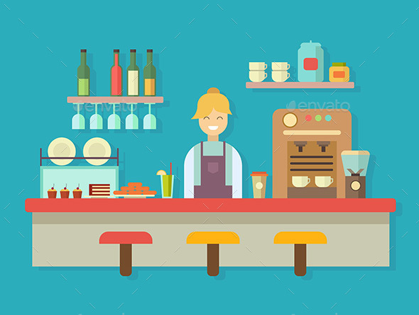 Bar Counter - Miscellaneous Vectors