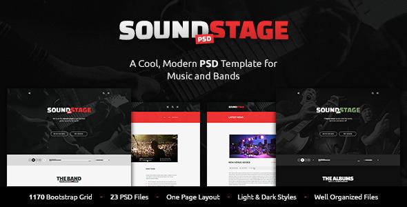 SoundStage - A Rockin' PSD Music Template