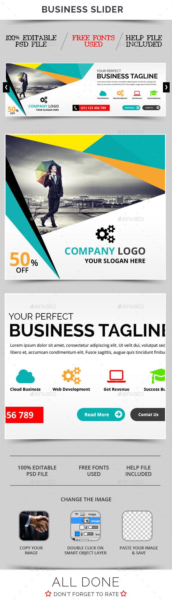 Business Slider V31 - Sliders & Features Web Elements