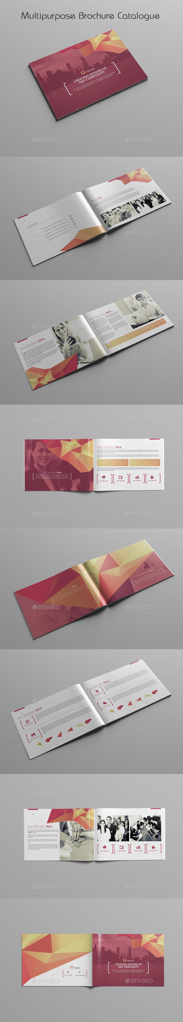 Multipurpose Brochure Catalogue - Brochures Print Templates