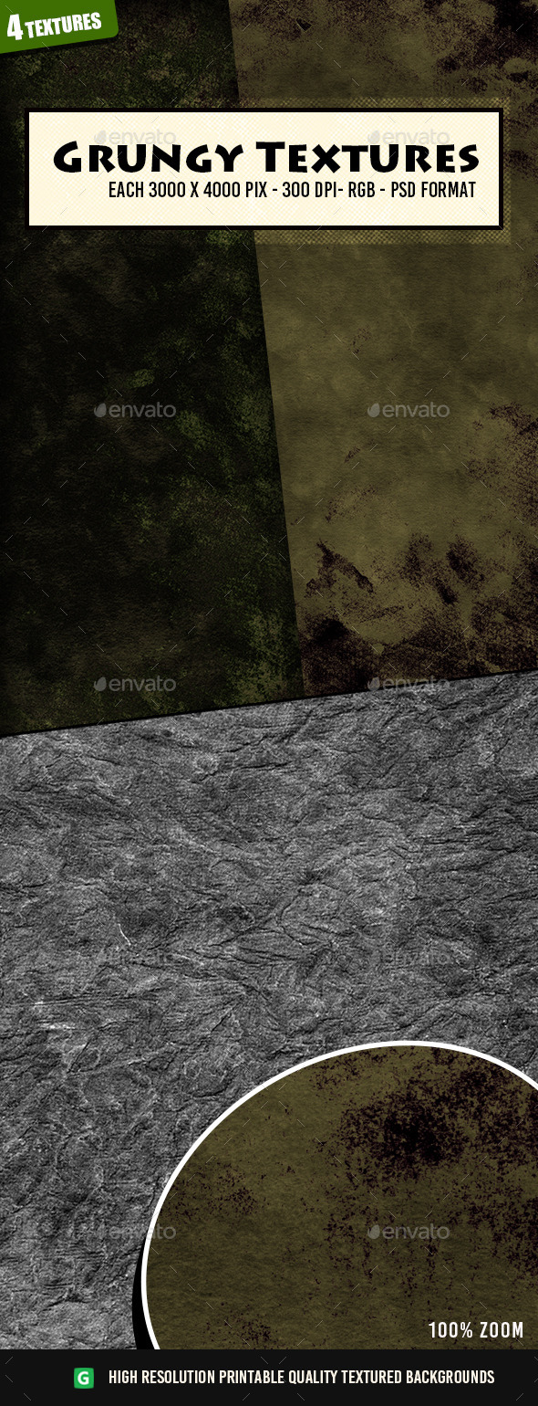 Grungy Texture Pack  49 - Industrial / Grunge Textures