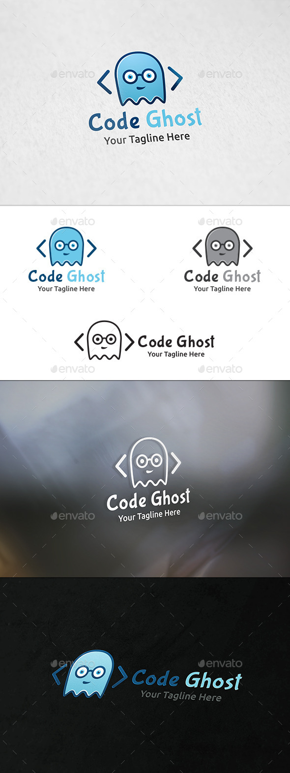 Code Ghost Logo Template