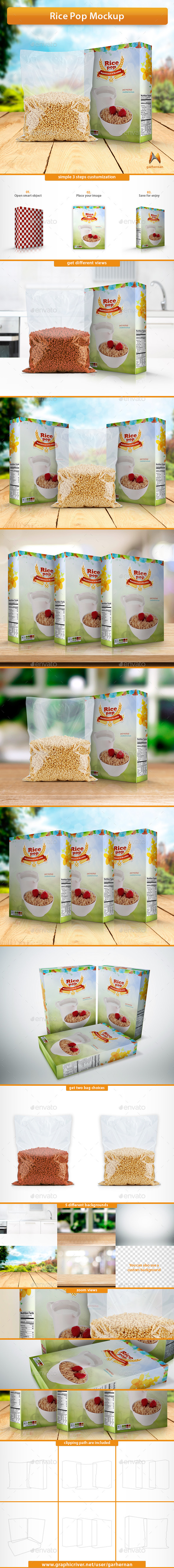 Rice Pop Mockup - Food and Drink Packaging