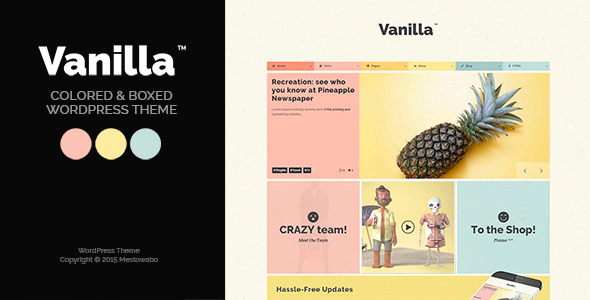 Vanilla – Boxed & Colored WordPress Theme