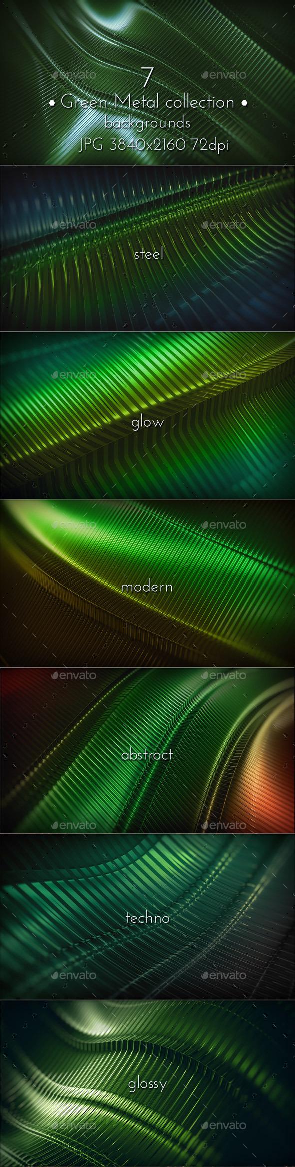 Modern Green Metal Surface