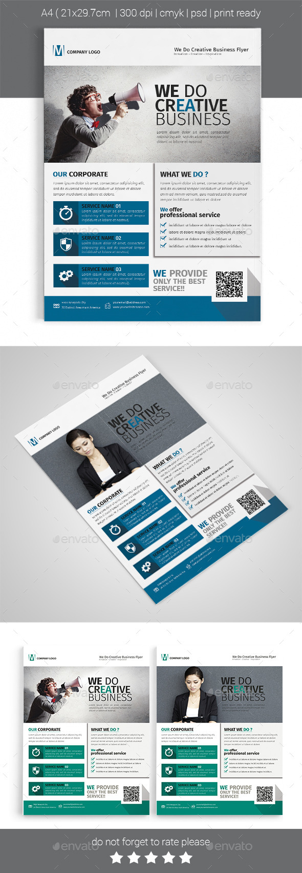 A4 Corporate Business Flyer Template Vol 01 - Corporate Flyers