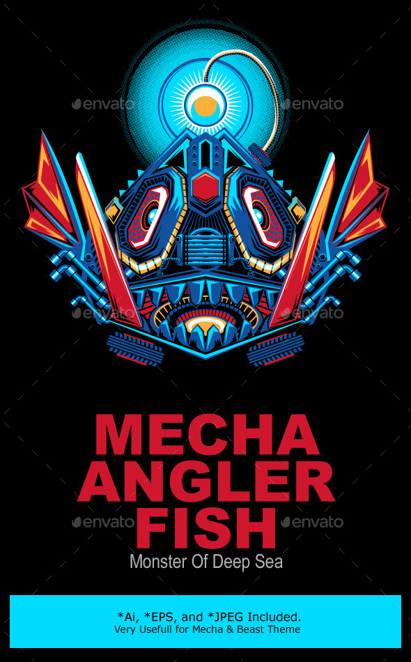 Mecha Robot Angler Fish - Monsters Characters