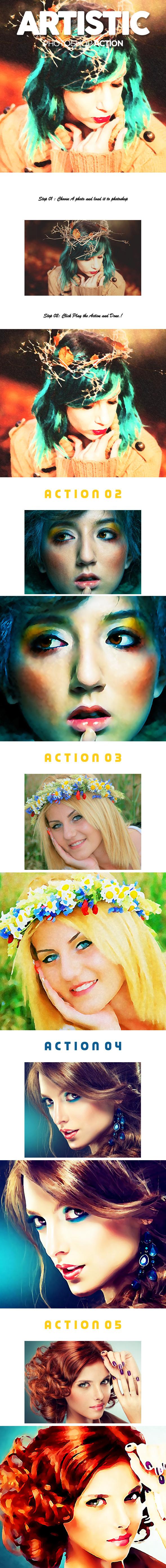 Artistic Photoshop Action
