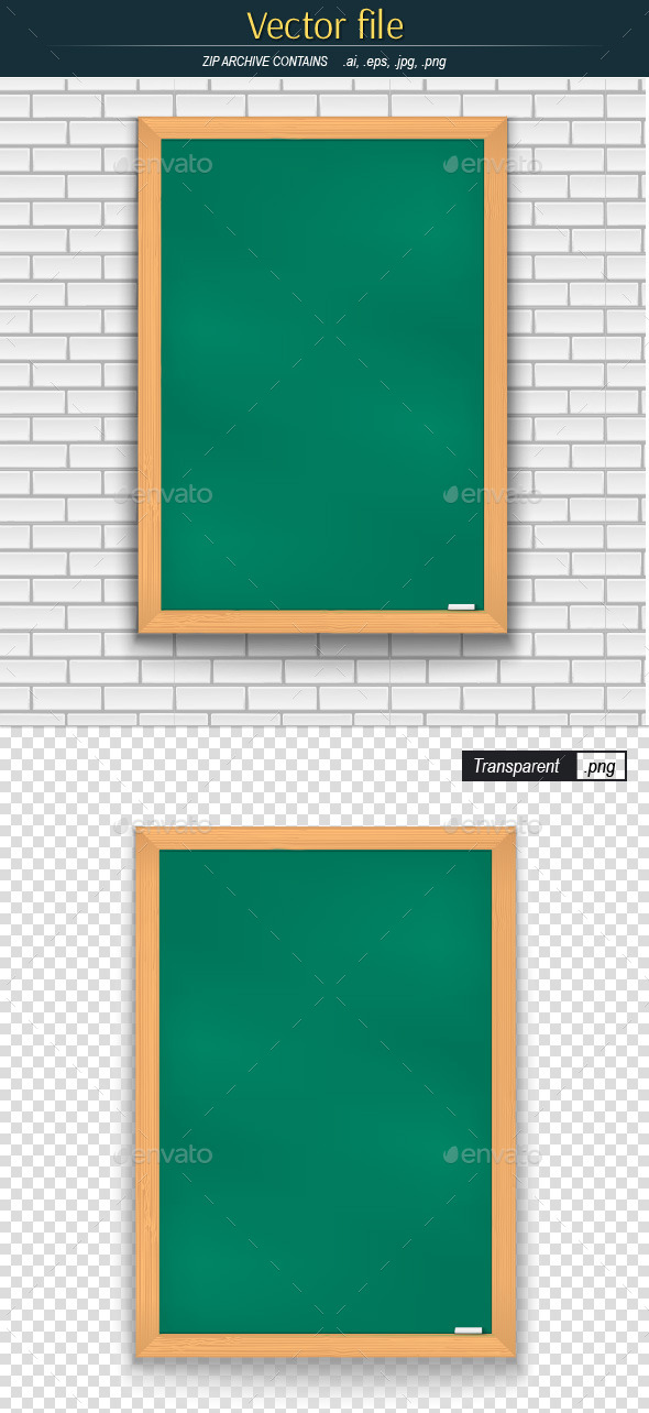 Green School Board - Backgrounds Decorative