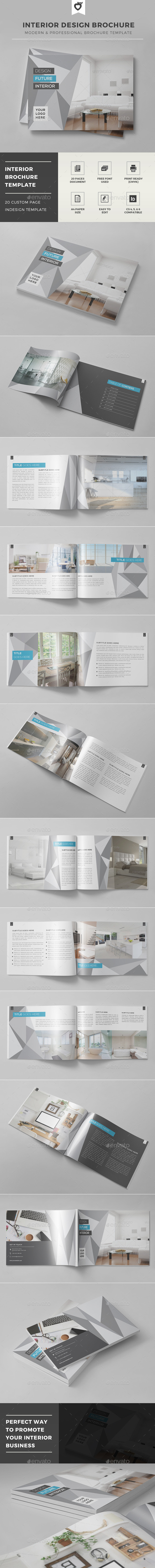 Interior Design Brochure Template - Catalogs Brochures