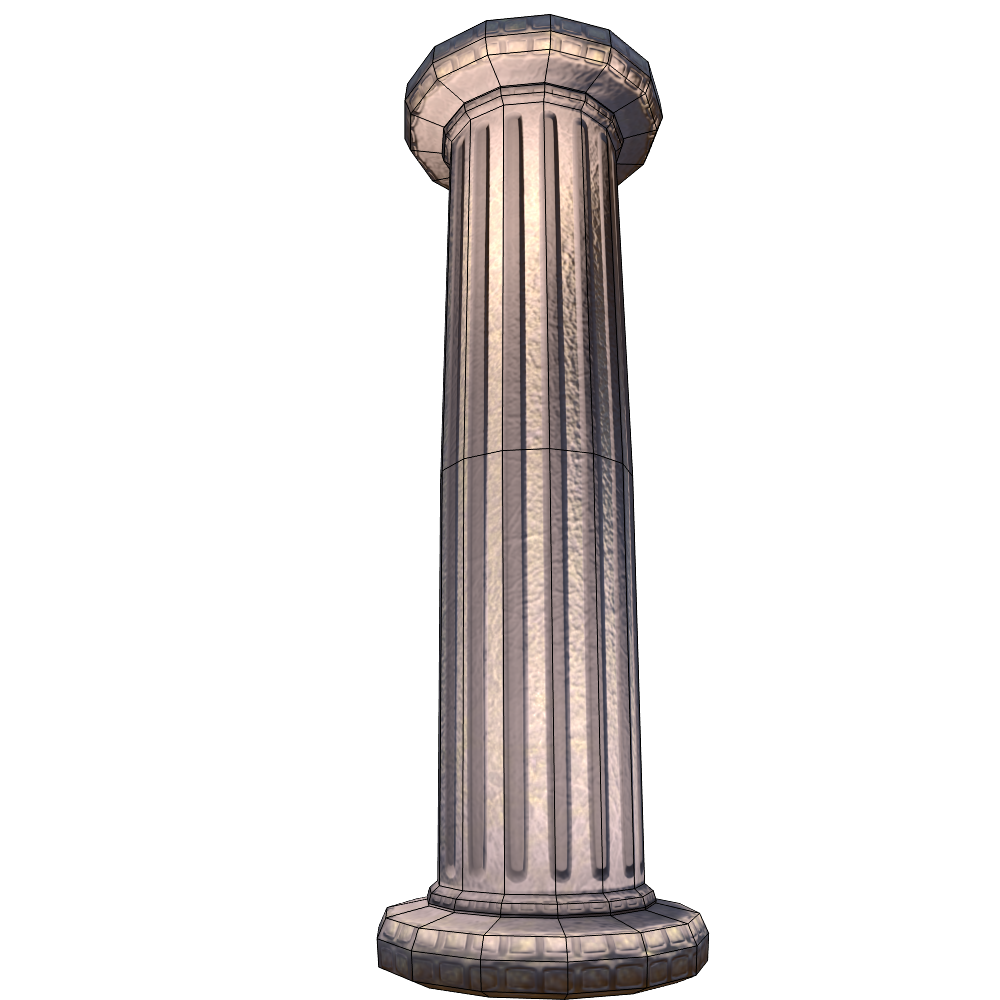 Marble column low poly asset by lab 3dmodels 3docean for Polyurethane columns