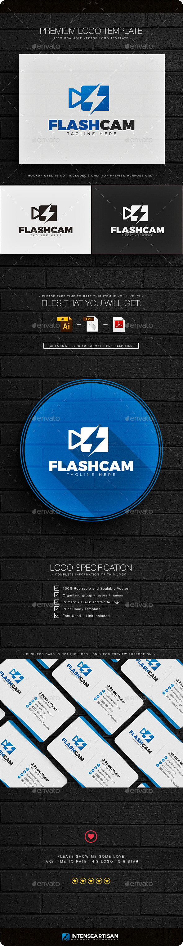 Flash Camera Logo - Objects Logo Templates