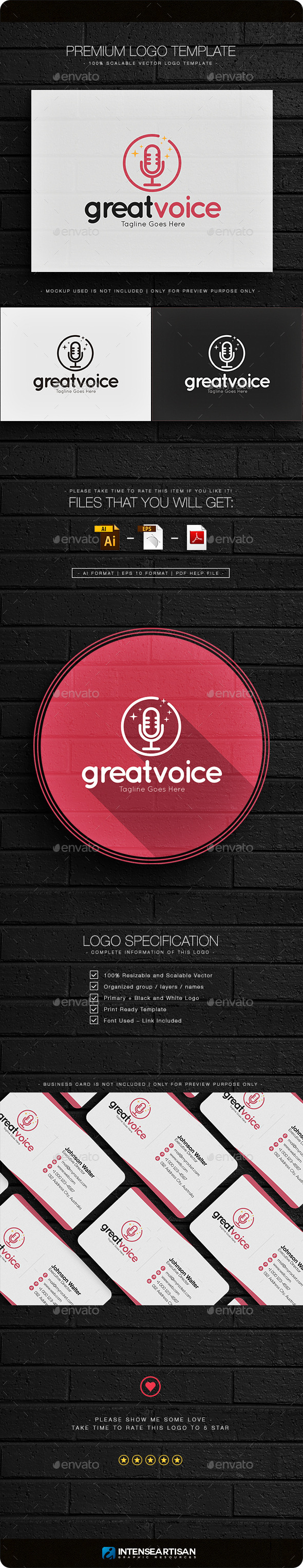 Great Voice Logo - Objects Logo Templates