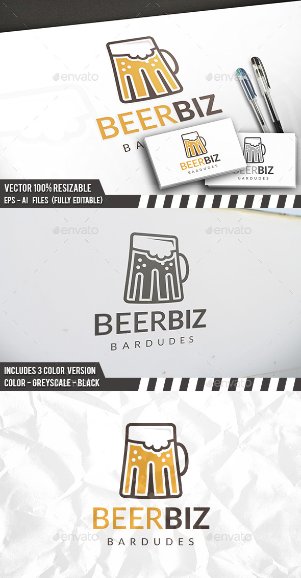 Beer Logo Template