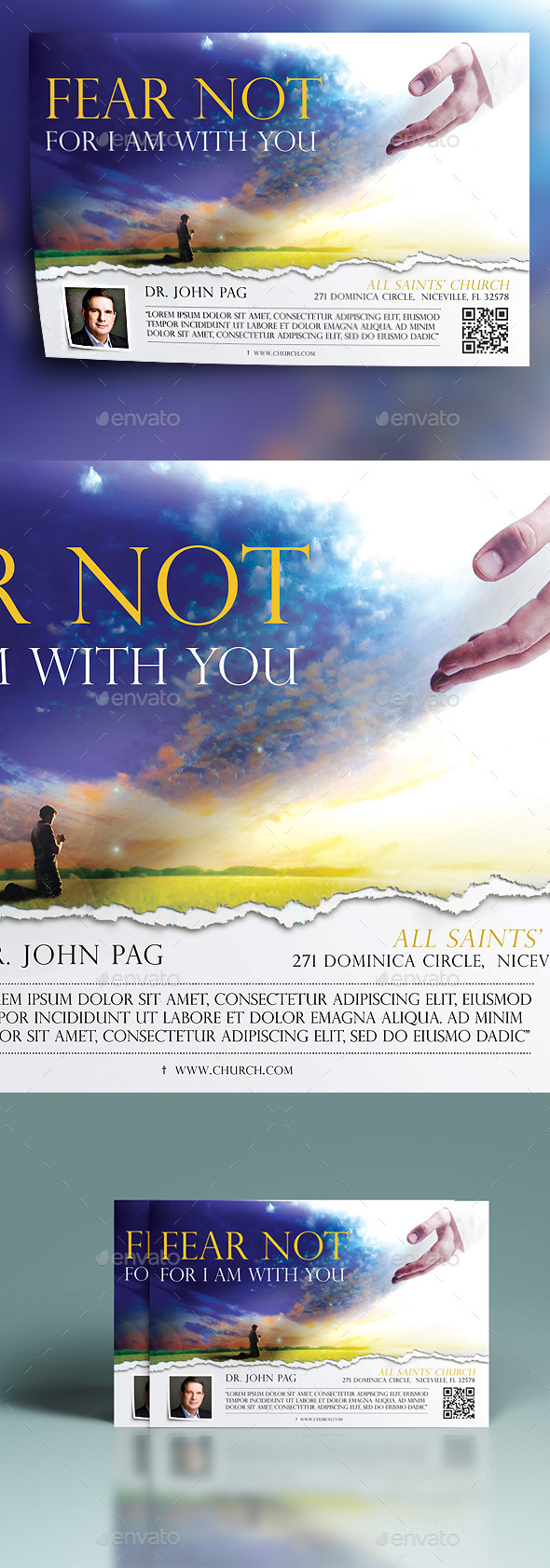 Fear Not For I Am With You - Church Flyers