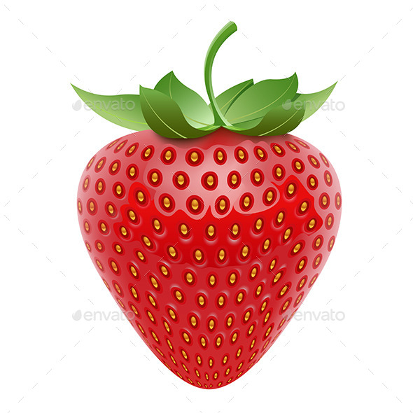 Vector Strawberry  - Food Objects