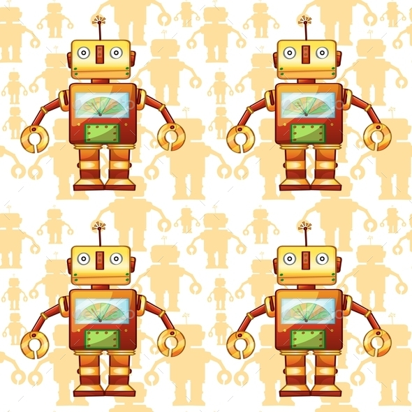 Robots - Backgrounds Decorative
