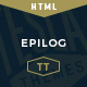 Epilog - A HTML Blogging Template - ThemeForest Item for Sale