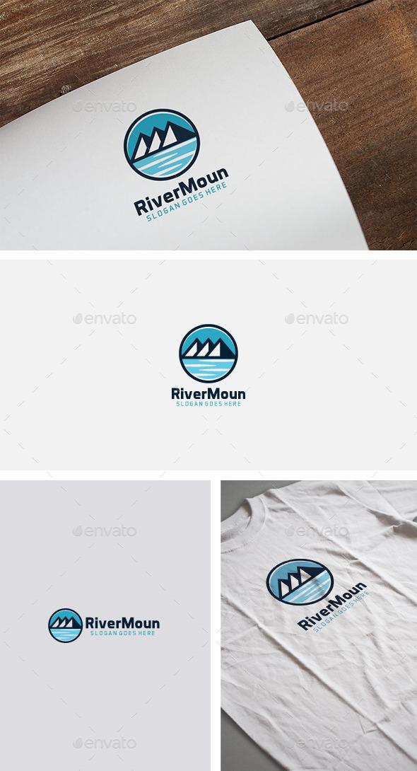 River Mountain Logo - Nature Logo Templates