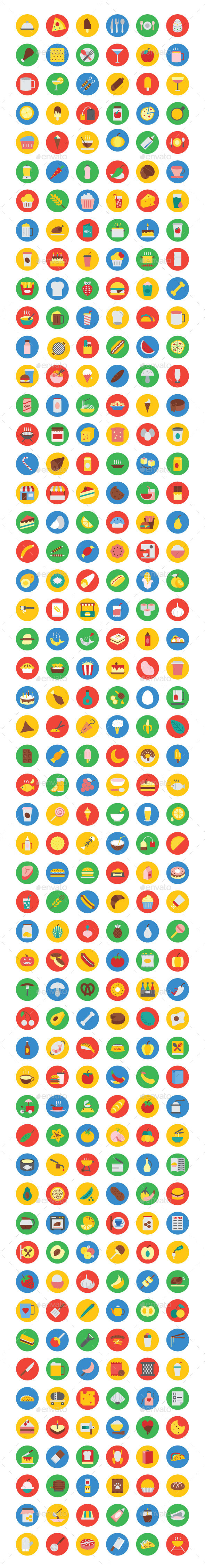 300+ Food Vector Icons - Food Objects