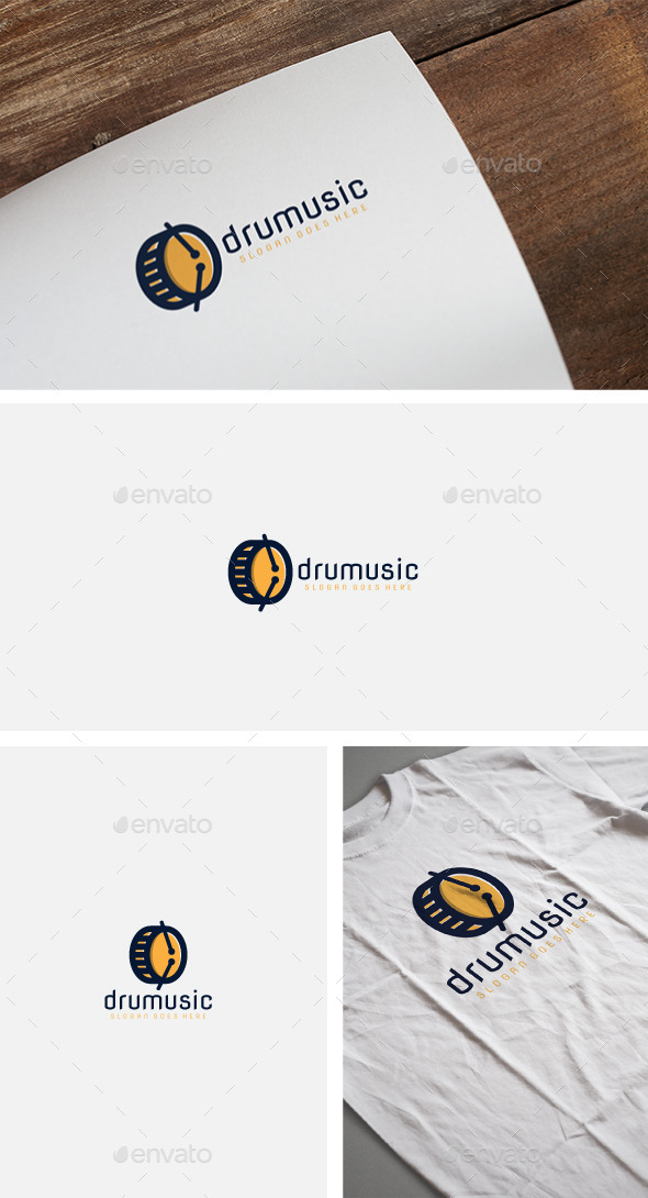 Drum Music Logo - Abstract Logo Templates