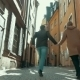 Happy Couple Running Along The Narrow Street - VideoHive Item for Sale