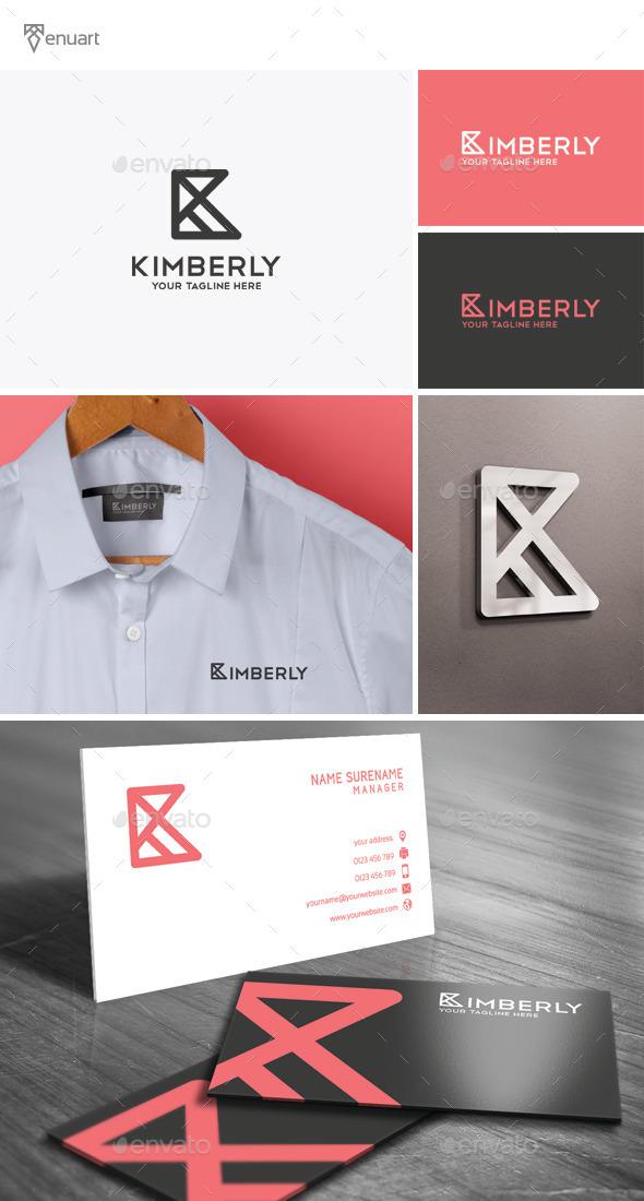 Kimberly - Letter K Logo - Letters Logo Templates