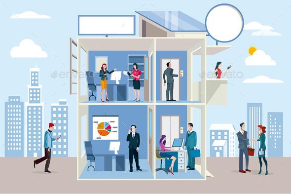 Transparent Office Building - Business Conceptual